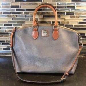 Dooney & Bourke taupe Gray shoulder satchel bag